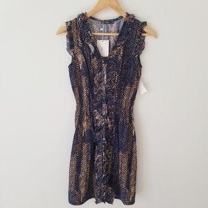 THML New W/ Tags ruffle Dress distressed Chevron